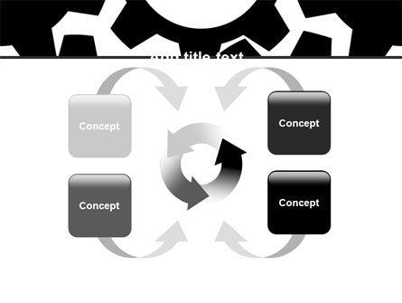 Gear Wheels Mechanism PowerPoint Template Slide 6