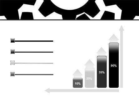Gear Wheels Mechanism PowerPoint Template Slide 8