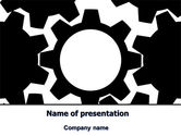 Consulting: Gear Wheels Mechanism PowerPoint Template #08001