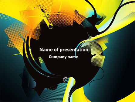 Abstract/Textures: Modern Music Theme PowerPoint Template #08002