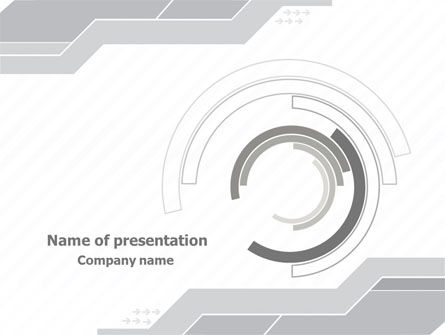 Neutral Gray PowerPoint Template, 08003, Business — PoweredTemplate.com