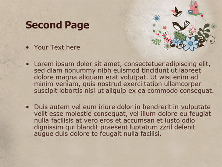 Bird Theme PowerPoint Template, Slide 2, 08004, Nature & Environment — PoweredTemplate.com