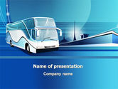 Cars and Transportation: Plantilla de PowerPoint - autobus entrenador #08005