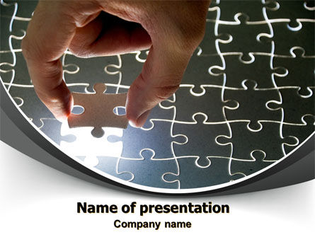 Consulting: Jigsaw Fit PowerPoint Template #08008