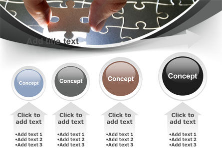 Jigsaw Fit PowerPoint Template Slide 13