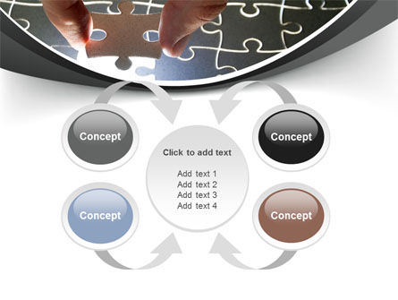 Jigsaw Fit PowerPoint Template Slide 6