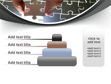 Jigsaw Fit PowerPoint Template Slide 8