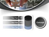 Jigsaw Fit PowerPoint Template#11