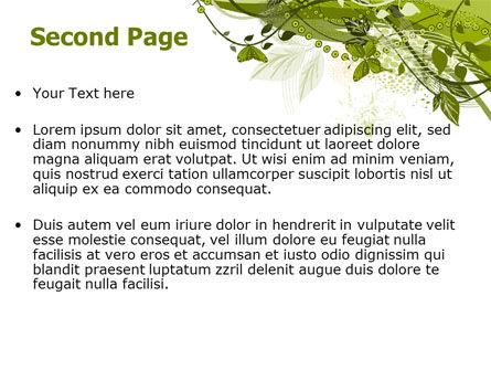 Green Butterfly Theme PowerPoint Template, Slide 2, 08009, Nature & Environment — PoweredTemplate.com