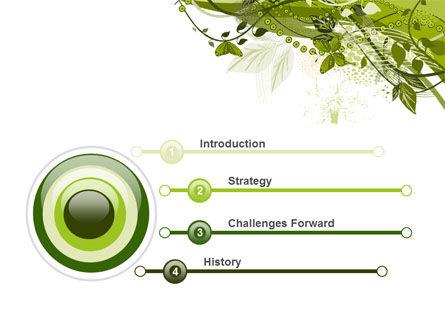 Green Butterfly Theme PowerPoint Template, Slide 3, 08009, Nature & Environment — PoweredTemplate.com
