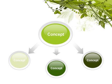 Green Butterfly Theme PowerPoint Template, Slide 4, 08009, Nature & Environment — PoweredTemplate.com