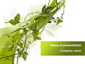 Nature & Environment: Green Butterfly Theme PowerPoint Template #08009