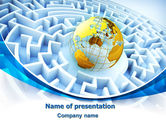 Global: World Labyrinth PowerPoint Template #08011