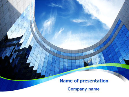 Building Skyline PowerPoint Template, 08013, Construction — PoweredTemplate.com