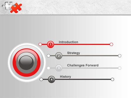 Last Red Puzzle PowerPoint Template, Slide 3, 08014, Consulting — PoweredTemplate.com