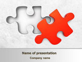 Consulting: Last Red Puzzle PowerPoint Template #08014