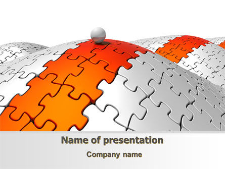 Jigsaw Road PowerPoint Template, 08015, Business Concepts — PoweredTemplate.com