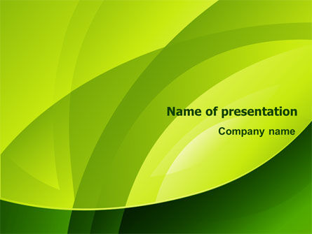 Abstract/Textures: Yellow - Green Theme PowerPoint Template #08016
