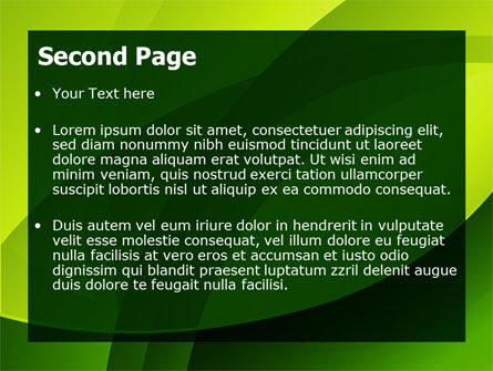 Yellow - Green Theme PowerPoint Template, Slide 2, 08016, Abstract/Textures — PoweredTemplate.com