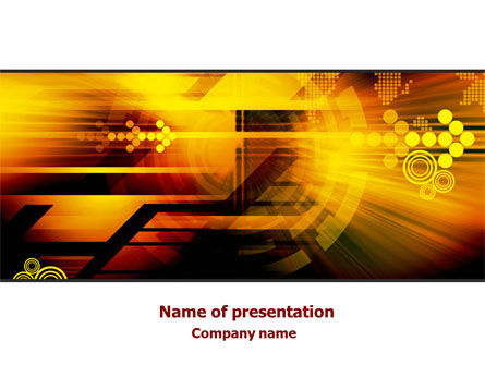 Integrated Technology PowerPoint Template, 08018, Technology and Science — PoweredTemplate.com