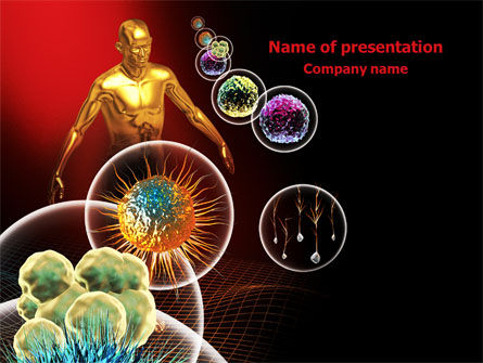 modern microbiology powerpoint template, backgrounds | 08019, Modern powerpoint