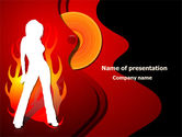 Art & Entertainment: Devil Girl PowerPoint Template #08021