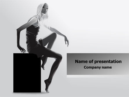 Careers/Industry: Slim Girl PowerPoint Template #08022