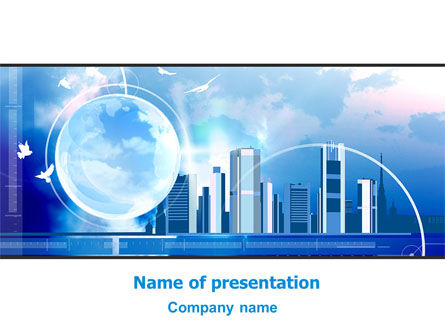 Construction: Future City PowerPoint Template #08025