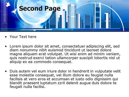 Future City PowerPoint Template Slide 2