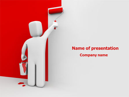 Paint It Red PowerPoint Template, 08026, Careers/Industry — PoweredTemplate.com