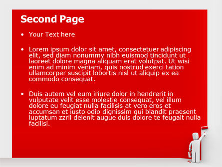 Paint It Red PowerPoint Template Slide 2