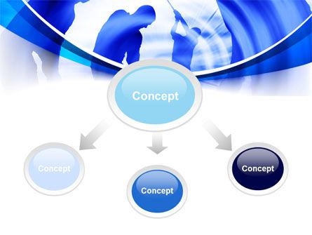 Golf Training PowerPoint Template, Slide 4, 08028, Sports — PoweredTemplate.com