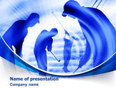 Sports: Golf Training PowerPoint Template #08028