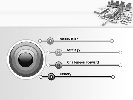 Power Station 3D Model PowerPoint Template, Slide 3, 08029, Utilities/Industrial — PoweredTemplate.com