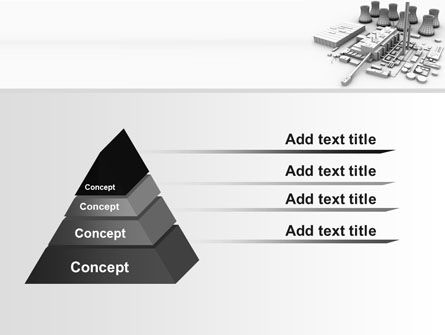 Power Station 3D Model PowerPoint Template, Slide 4, 08029, Utilities/Industrial — PoweredTemplate.com