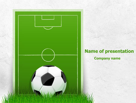 European Football Field PowerPoint Template, 08032, Sports — PoweredTemplate.com