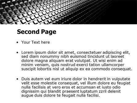 Ribbed Surface PowerPoint Template Slide 2