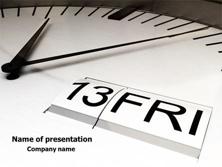 Business: Friday 13 PowerPoint Template #08037