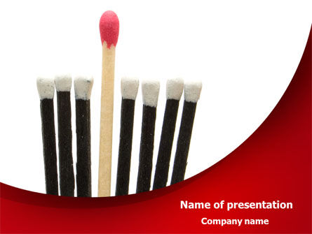 Safety Match PowerPoint Template, 08039, Business Concepts — PoweredTemplate.com