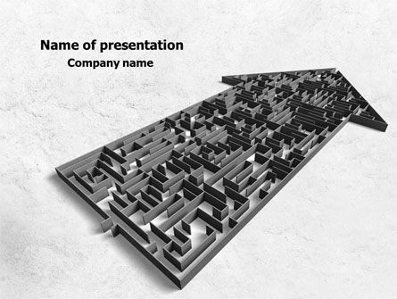 Arrow Labyrinth PowerPoint Template, 08040, Consulting — PoweredTemplate.com