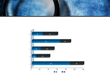 Magnifier On A Blue Parchment PowerPoint Template Slide 11