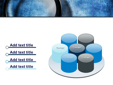Magnifier On A Blue Parchment PowerPoint Template Slide 12