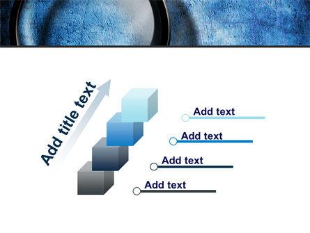 Magnifier On A Blue Parchment PowerPoint Template Slide 14