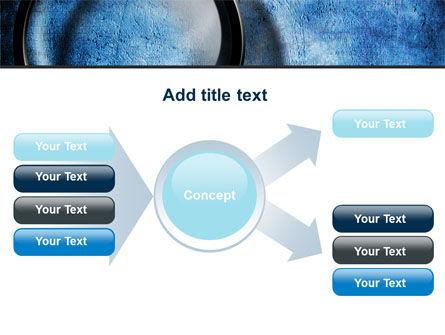 Magnifier On A Blue Parchment PowerPoint Template Slide 15