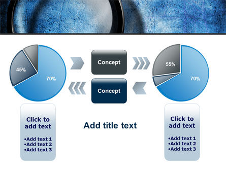 Magnifier On A Blue Parchment PowerPoint Template Slide 16