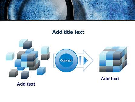 Magnifier On A Blue Parchment PowerPoint Template Slide 17