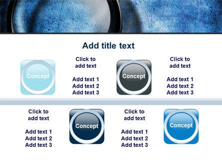 Magnifier On A Blue Parchment PowerPoint Template Slide 18