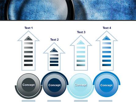 Magnifier On A Blue Parchment PowerPoint Template Slide 7