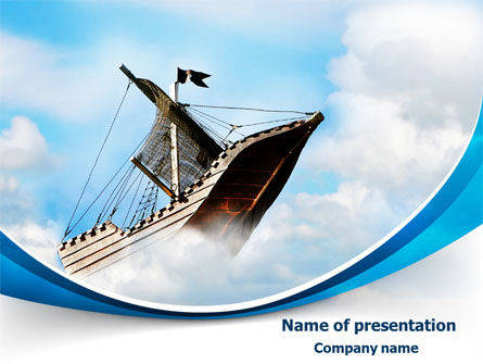 Sailing Boat PowerPoint Template, 08042, Business Concepts — PoweredTemplate.com