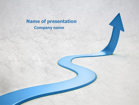 Business Concepts: Blue Arrow Path PowerPoint Template #08043